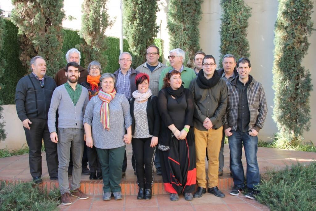 Foto de família de la Comissió executiva entrant i sortint